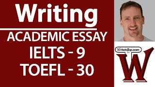 Download IELTS TOEFL Writing Full essay (high score) Video