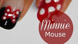 Download Disney Minnie Mouse nail art tutorial Video