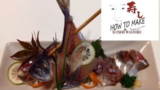 Download How to make sashimi.sugatazukuri (whole fish sashimi)(horse mackerel)STEP2 Video