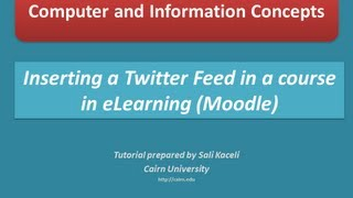 Download Posting or embedding a Twitter feed in eLearning or Moodle 2.3 course page Video