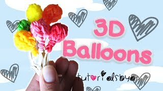 Download NEW 3D Balloon Charm / Mini Figurine Rainbow Loom Tutorial | How To Video