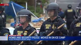 Download Homeland Security Moves in on Occupy ICE Protesters in Portland, Oregon Video