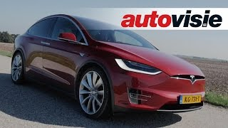 Download Review Tesla Model X (2016) - by Autovisie TV Video