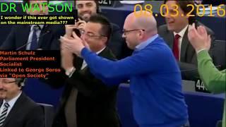 Download EU ERUPTS IN ANGER WHEN SPEAKER SCHULZ ATTACKS ANTI-EU MEPs - ENJOY THE BACKLASH-NOT ON MSM Video