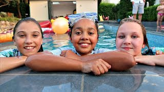 Download Ruby Rube & Rosie ARE IN MY SWIMMING POOL (Best Outdoor Playground) Video