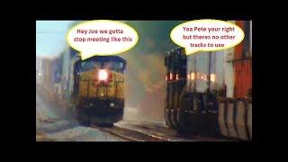 Download 2 Big Fast CSX Trains Meet Video