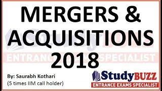 Download GK update for IIFT, XAT, CMAT, SNAP, TISS- Important mergers & acquisitions 2018 Video