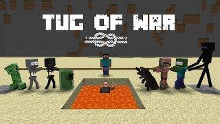 Download Monster School : Tug Of War - Minecraft Animation Video