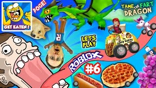 Download ROBLOX #6: GET EATEN ... by DOGE? + Fart Dragon Taming! (Fast Food on Wheels is Yummy Nummy!) Video