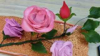Download How To Make Italian Dough Rose/Attractive Pink Rose Video