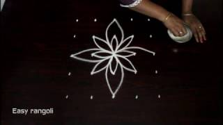 Download easy rangoli designs with 5x5 straight dots || muggulu designs || kolam Video