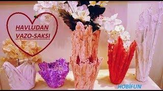 Download ESKİ HAVLU-BEZ VE DANTELLERDEN;ŞIK VAZO VE SAKSI YAPIMI!Plaster Vase-Flowerpot Video