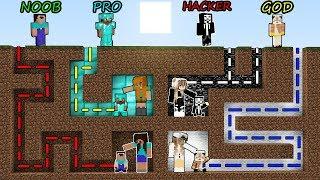 Download Minecraft Battle: NOOB vs PRO vs HACKER vs GOD - MAZE TO FAMILY Challenge! Minecraft Animation! Video
