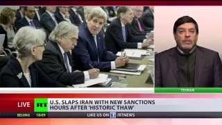 Download US slaps new sanctions on Iran - hours after 'historic thaw' Video