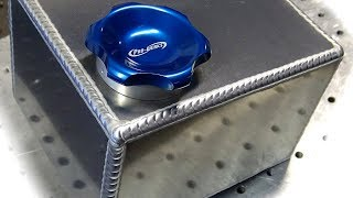 Download TIG Welding Aluminum Fabrication - Making a small fuel cell (gas tank) - 6061 Video