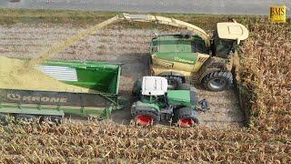 Download Großeinsatz Maishäckseln 2019 Krone Big X 780 14-reihig 10 Fahrzeuge farmer corn harvest Maisernte Video