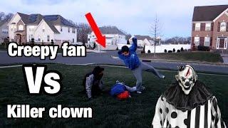 Download MY CREEPY SCARY KILLER CLOWN FIGHTS MY CREEPY STALKER FAN! Video