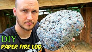 Download How to Make Paper Fire Log? Video