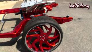 Download ULTIMATE AUDIO: CANDY RED FRAME OFF '70 Chevelle on 24″ Forgiatos, CHROME SUSPENSION - HD Video