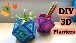 Download DIY 3D Perler Bead Geometric Planters Video