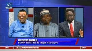 Download Garba Shehu, Clarke Debate Legality Of Executive Order 6 And The Travel Ban Pt.1 |Politics Today| Video