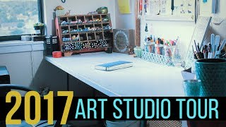 Download 2017 ART ROOM / WORKSTATION TOUR! | WELCOME TO MY ART STUDIO! Video