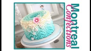 Download How to make a chevron pattern on a cake - Ombre Ruffle Cake Decorating Video
