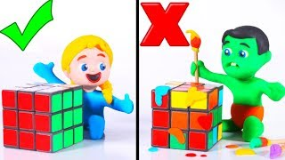 Download Tommy And His Friends Play With Rubik's Cube 💕 Cartoons For Kids Video