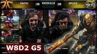 Download Fnatic vs Splyce | Week 8 Day 2 S8 EU LCS Summer 2018 | FNC vs SPY W8D2 Video
