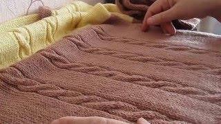Download Вязание спицами.Пуловер женский из Семеновской пряжи. Video