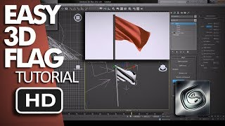 Download Easy Tutorial - How to Animate 3D Flag Using 3ds Max Video