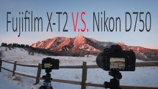 Download Fujifilm X-T2 vs. Nikon D750   Compare image quality at lowest ISO for landscape photography Video
