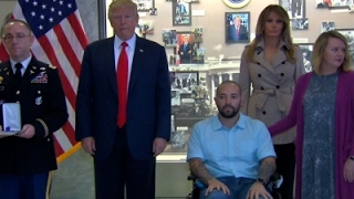 Download Trump Awards Purple Heart at Military Hospital Video