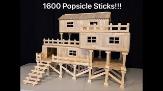 Download How to Make Popsicle Stick House for Chinchilla Video