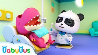 Download Doctor Panda Cures Baby Dinosaur's Toothache | Doctor Pretend Play | Kids Song | BabyBus Cartoon Video