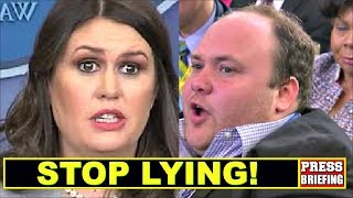 Download Reporter Surprises Sarah Sanders & caIIs her out for Iying Video