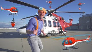 Download Blippi Firefighting Helicopter | Learn Machines for Kids with Songs for Children Video