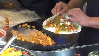 Download London Street Food. Mexican Fast Food Restaurant in Camden Market, Camden Town Video
