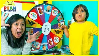 Download Ryan plays Kids movie Toys Spinning wheels game with Disney surprise toys Video