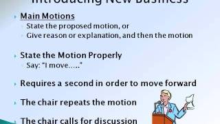 Download Parliamentary Procedure - A Practical Overview Video