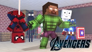 Download Monster School: BECOMING A SUPERHERO CHALLENGE - Minecraft Aimation Video