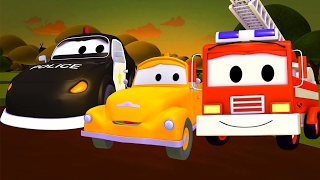 Download The Car Patrol: fire truck and police car in Baby Tom is in trouble in Car City 🚓 | Trucks cartoon Video