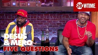 Download First Celebrity Crushes, Worst Fears & Trump As 3rd Co-Host   5 Questions w/ DESUS & MERO   SHOWTIME Video