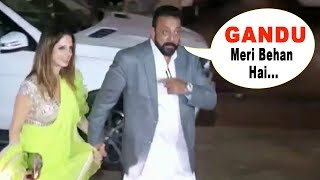 Download Sanjay Dutt's FUNNY Moment With Hrithik Roshan's Ex-Wife Suzanne Khan At His Diwali Party 2017 Video