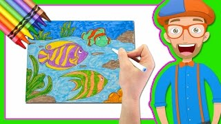 Download Learn Colors by Drawing with Blippi | Coloring Book Video