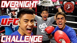 Download 24 HOUR OVERNIGHT CHALLENGE IN UFC GYM!! Video