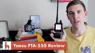 Download Yaesu FTA-550 Handheld VHF Transceiver Review & Saying Hey! Video