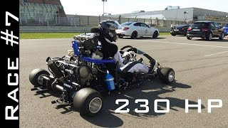 Download Go Kart with CBR1000RR Fireblade Engine vs Suzuki Hayabusa 1300 | Race #7 Video