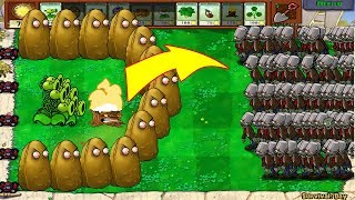 Download Plants Vs Zombies - 1 Threepeater vs 9999 Giga-Gagantuar Video