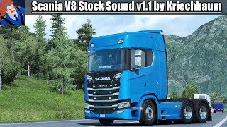 Download ✅ [ETS2 1.31/1.32] Next Gen Scania V8 Stock Sound v1.1 by Kriechbaum / Manual Shifting Gears Video